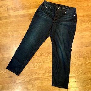 Nine West dark wash skinny jeans size 16 (EUC)